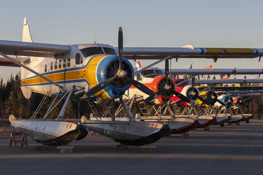 This is the end of an era for the de Havilland Otter at Recon Air in Geraldton, Ontario. Most have been converted to turbine engines and this may be the last time you see this many radials together in one spot.